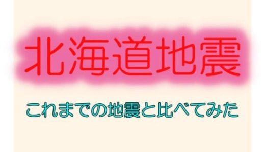 【北海道地震の余震に警戒は必要だが・・・】これまでの地震と比較してみた。
