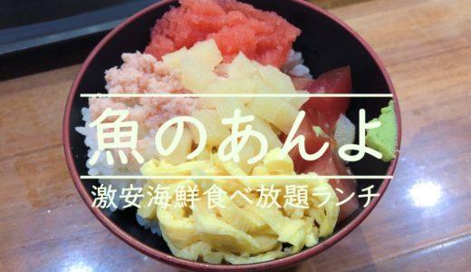 札幌すすきの魚のあんよ【激安海鮮食べ放題ランチ】を食レポ