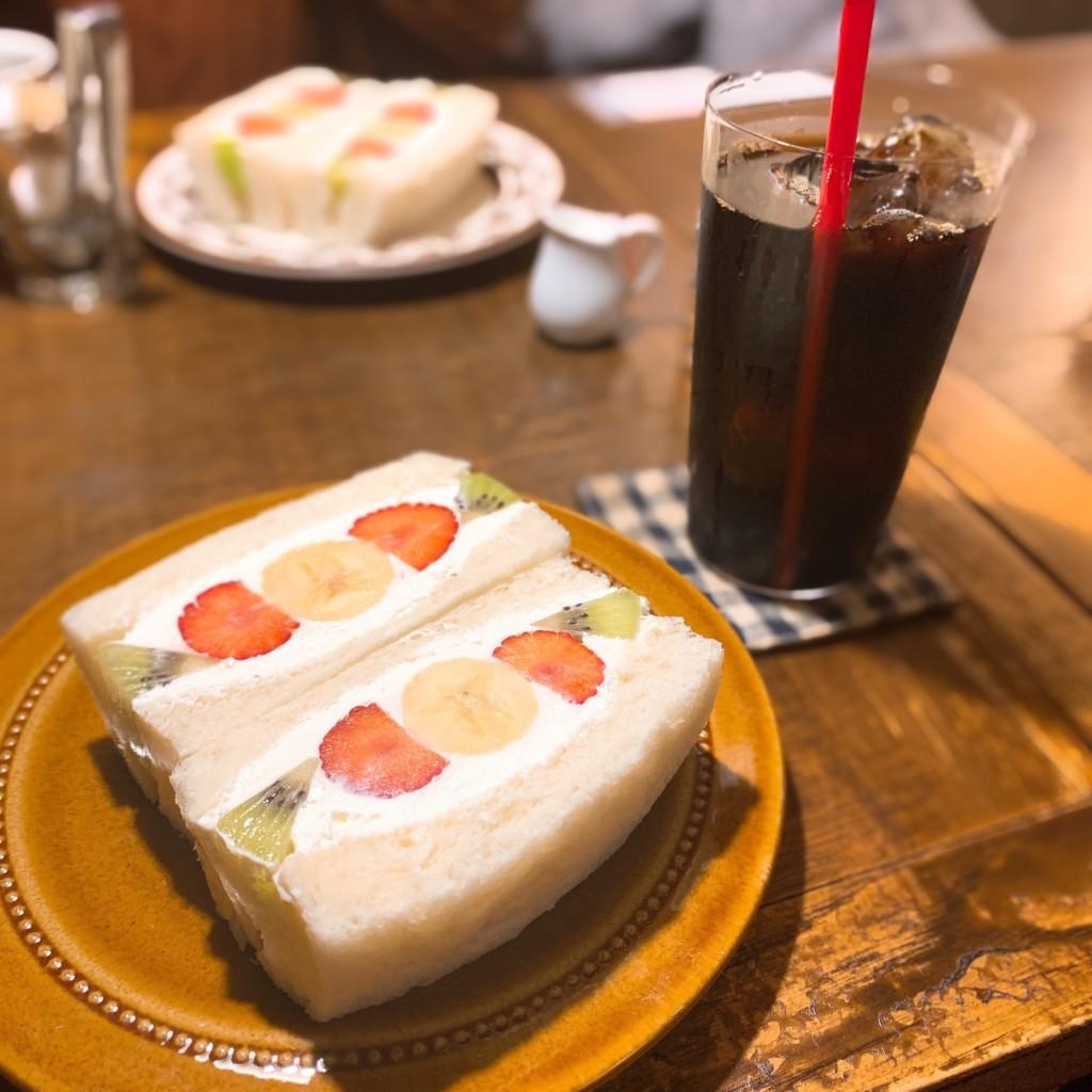 寿珈琲 フルーツサンド